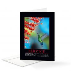 Classic Motivational Cards - Service Hummingbird 25 Pack Greeting Cards