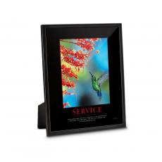 Classic Motivational Prints - Service Hummingbird Framed Desktop Print