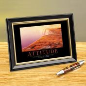 Attitude Watercliff Framed Desktop Print