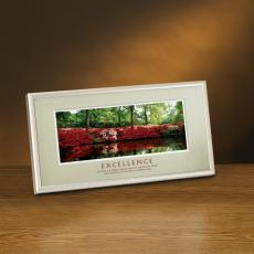 Excellence Azalea Pond Framed Desktop Print