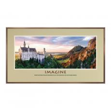 Imagine Alpine Castle Framed Motivational Poster