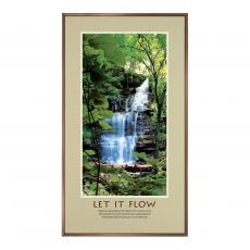 Let It Flow Framed Motivational Poster