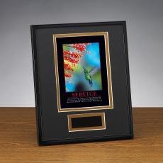 Framed Award - Service Hummingbird Framed Award