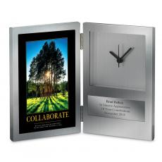 Engraved Clock Awards - Collaborate Grove Desk Clock