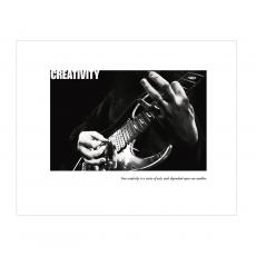 Creativity Guitar Unframed Motivational Poster