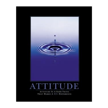 Attitude Drop Motivational Poster
