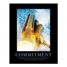 Commitment Space Shuttle Motivational Poster