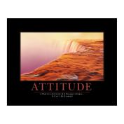 Attitude Watercliff Motivational Poster  (734043)