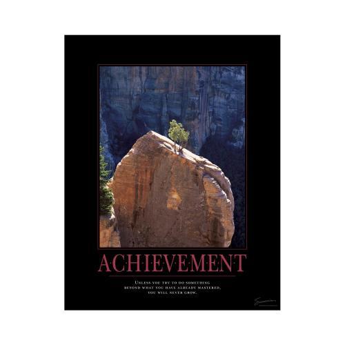 Achievement Tree Mini Motivational Poster