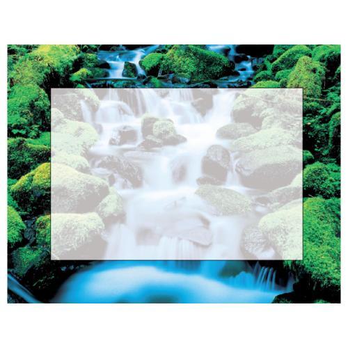 Waterfall Certificate Paper