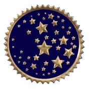 Gold Star Certificate Seals