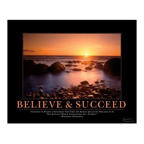 Believe & Succeed Motivational Poster