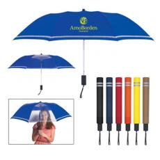 "Health & Safety - 44"" Arc Two-Tone Safety Umbrella"