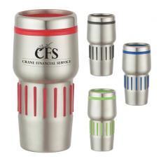 Health & Safety - 16 oz. Stainless Steel Tumbler With Rubber Grips
