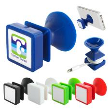 Office Supplies - Suction Phone Stand & Cord Wrap Combo