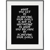 Your Goals (Black) - SoHo Poster Collection