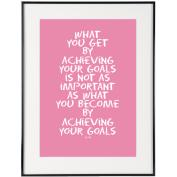 Your Goals (Pink) - SoHo Poster Collection