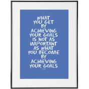 Your Goals (Blue) - SoHo Poster Collection