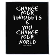 Change Your World (Black) - SoHo Poster Collection