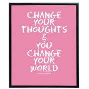 Change Your World (Pink) - SoHo Poster Collection