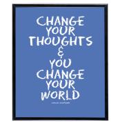 Change Your World (Blue) - SoHo Poster Collection