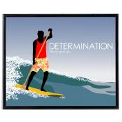 Determination Paddle Surfing - SoHo Poster Collection
