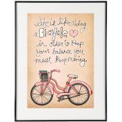 Life Is Like Riding A Bicycle - SoHo Poster Collection