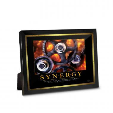 Synergy Gears Framed Desktop Print