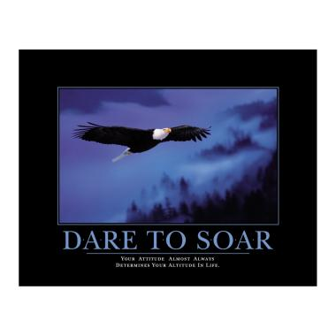 Dare to Soar Motivational Poster