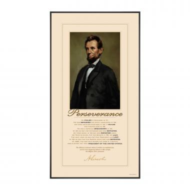 Lincoln Perseverance Motivational Poster