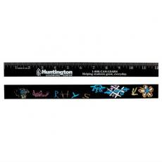 "Home & Family - 12"" chalkboard ruler - English scale"
