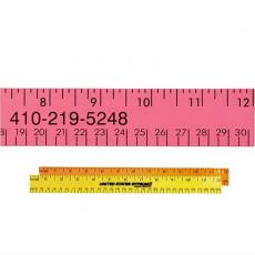 "Apparel - 12"" Fluorescent Wood Ruler - English & Metric Scale"