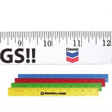 "Office Supplies - 12"" Enamel Wood Ruler - English Scale"