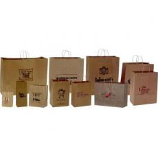Health & Safety - Natural Kraft Paper Shopping Bag - Plain
