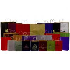 Home & Family - Premium Color Matte Kraft Tint Paper Shopping Bag - Printed