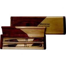 Office Supplies - Rosewood and Maple Pen, Pencil and Case Set