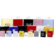 Office Supplies - High Gloss White Paper Shopping Bag - Printed