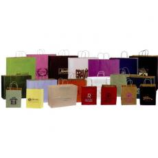 Home & Family - Colors Shadow Stripe Paper Shopping Bag - Plain