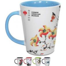Tradeshow & Event Supplies - 12 oz White With Color Accents Two-Tone Latte Mug