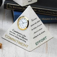 Commitment, Effort, Change & Challenges Desk Clock