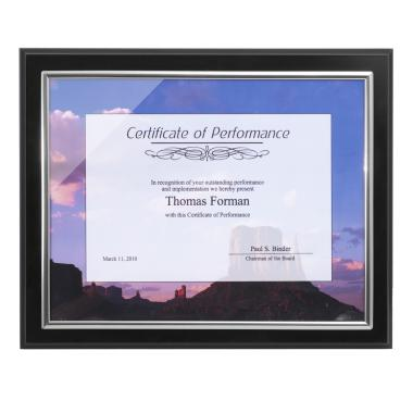 Classic Ebony Certificate Display Plaque