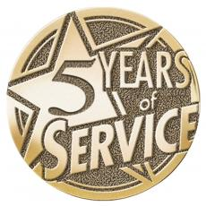 Brass Medallions - Years of Service Medallion