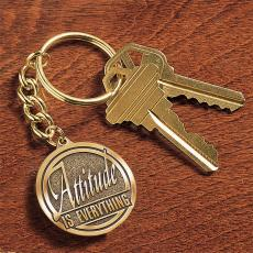 Medallion Keychains - Attitude is Everything Medallion Key Chain