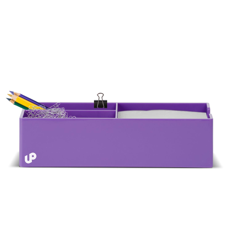 Desk accessories by successories brighten up purple desk - Desk organizers and accessories ...