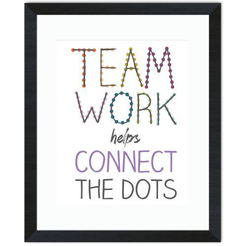 Teamwork Connects Inspirational Art