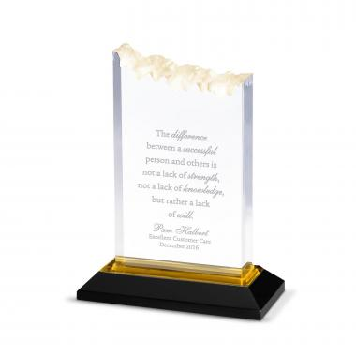 Gold Summit Reflection Acrylic Award