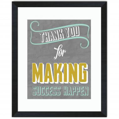 Thank You for Making Success Happen Inspirational Art