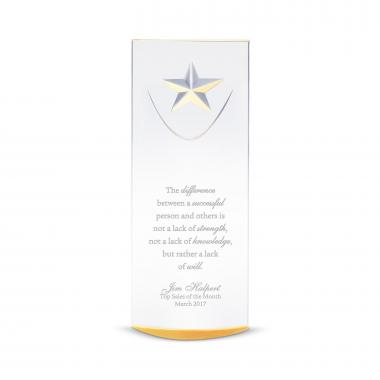 Gold Star-Dome Acrylic Award