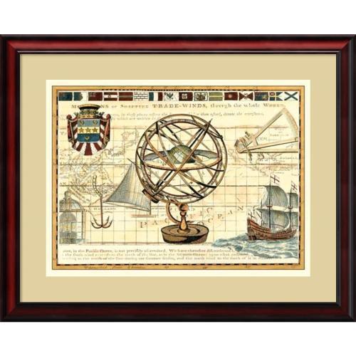 Rachel Perry Nautical Map I Office Art