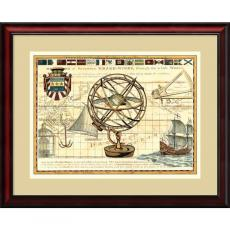 All Motivational Posters - Rachel Perry Nautical Map I Office Art